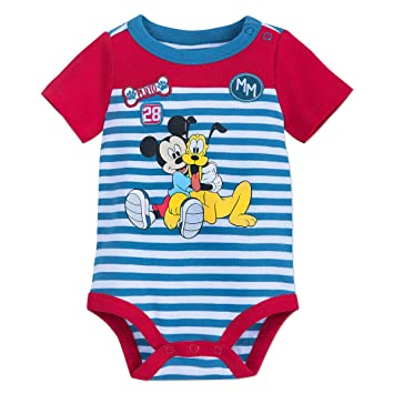 7ebe58ae9 Image Unavailable. Image not available for. Color: Disney Mickey Mouse and  Pluto Bodysuit for Baby ...