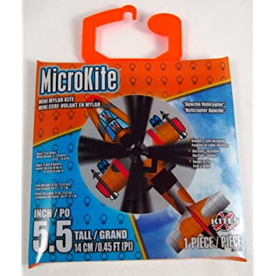 X-Kites Microkite Mini Mylar 5.5inches Kite: Apache Helicopter: Toys & Games