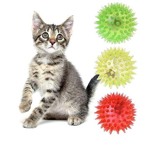 Yasheep Pelota de Juguete para Gato, elástica, para Mascota ...