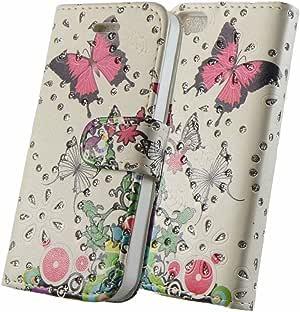 REVIVE Impreso Rosa Mariposa Tipo Libro con Purpurina de