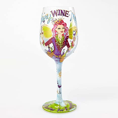 "05b4d3ea65b Image Unavailable. Image not available for. Color  Designs by Lolita ""Fairy  Wine Mother"" Hand-painted Artisan Wine Glass ..."