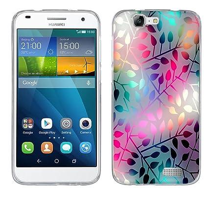 FUBAODA Funda Huawei Ascend G7, [vetro traslucido] Silicona ...