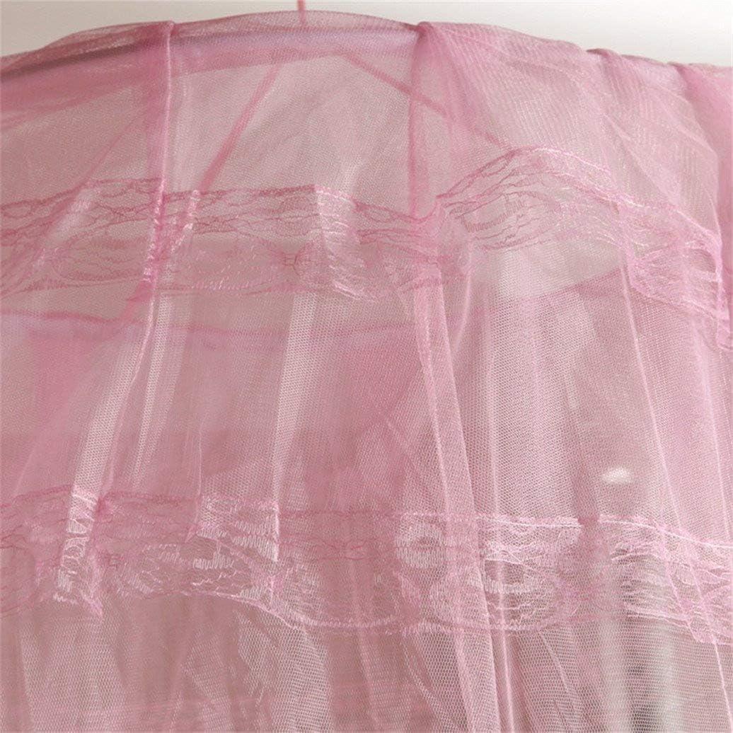 talla /única Mosquitera redonda de estilo dulce para decoraci/ón de cama Steellwingsf Blanco dise/ño de c/úpula