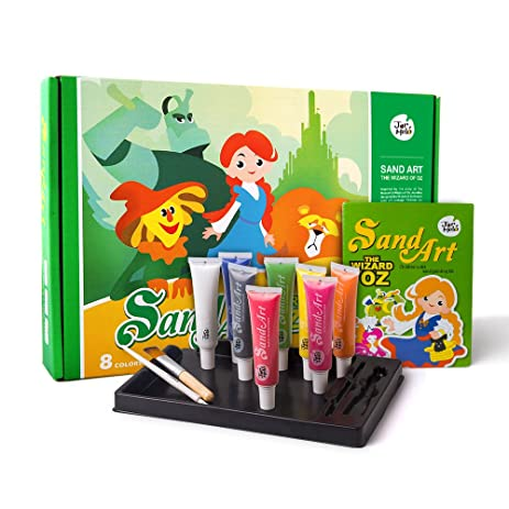 jar melo childrens sand art painting kit 8 colors sand the wizard of oz