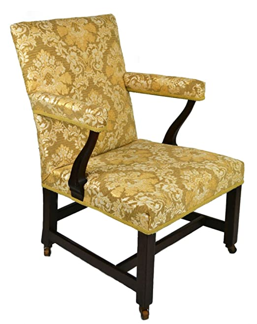 Georgian espectacular sillón Floral muebles oro suave madera ...