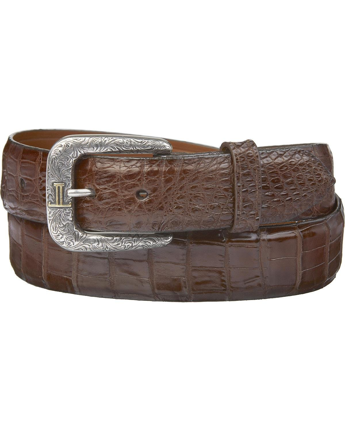Lucchese Men's Sienna Caiman Ultra Belly Leather Belt Sienna 40