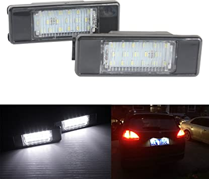 1Pair Rear Car LED Number Plate Cover Light for BMW 3 Series E46 1998-2005