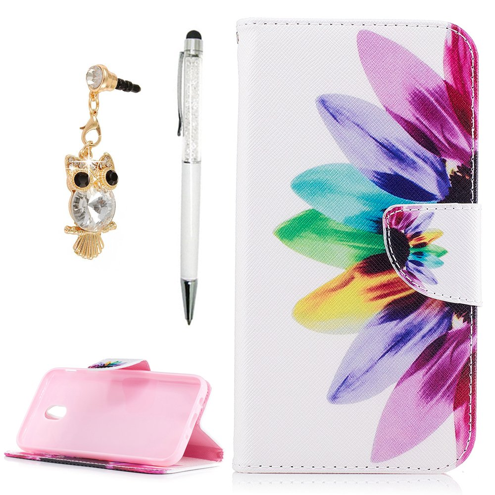 For Samsung Galaxy J5 Case 2017, J5 Flip Folio Wallet Case, YOKIRIN PU Leather Case With Magnetic Closure Kickstand Card ID Holder & Dust Plug & Touch Pen for Samsung Galaxy J5, Colorful Tree NN6FBAZH208F-H-A-M1623-UK