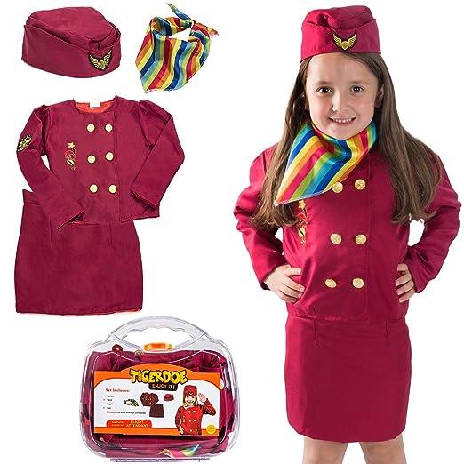 Tigerdoe Pilot Costume for Kids - Stewardess Costumes - Kids Dress up,  W/Storage Case - Pretend Play - Role Play