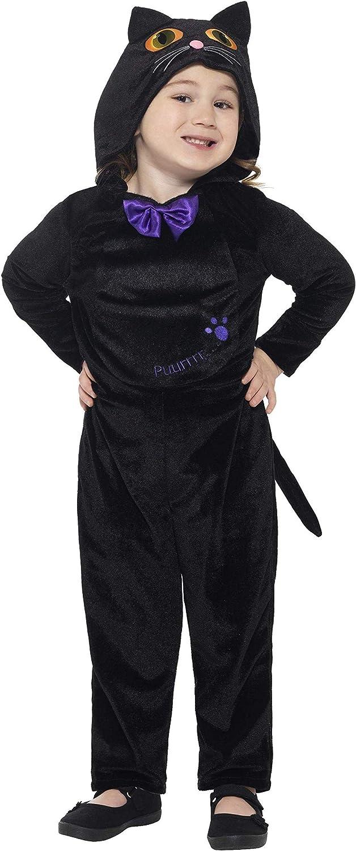 Smiffys-21497T1 Disfraz de Gato para bebés, con Mono con Capucha y ...