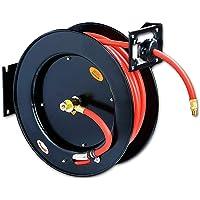 ReelWorks Retractable 50-Foot Air Compressor / Water Hose Reel