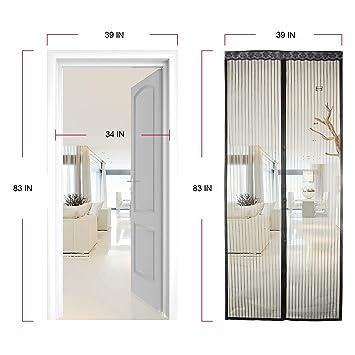 8dea70202142c Moustiquaire porte magnétique rideau de porte à fixation aimantée Anti  Insecte Mouche Moustique 100ⅹ210cm Parfait pour