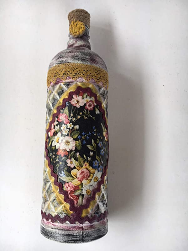 Botella decorada estilo vintage: Amazon.es: Handmade