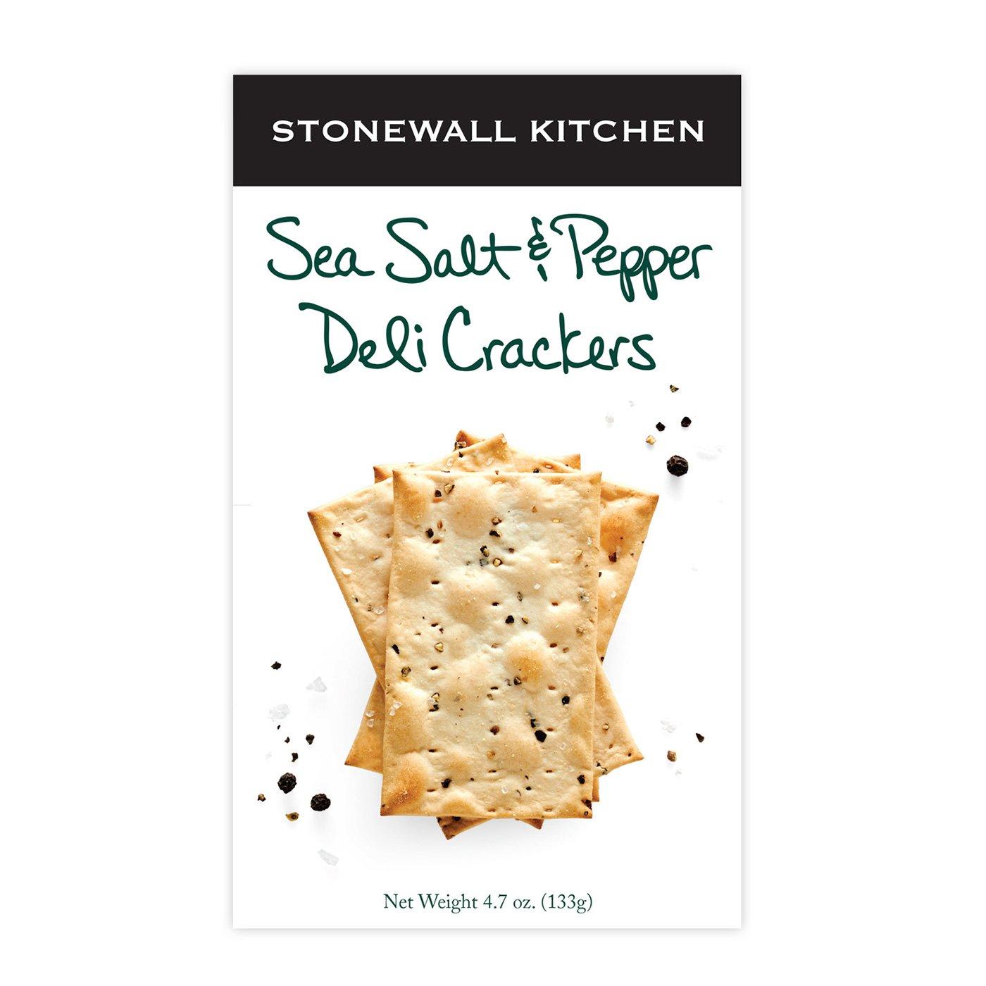 Stonewall Kitchen Sea Salt & Pepper Deli Cracker, 4.7 Ounce by Stonewall Kitchen
