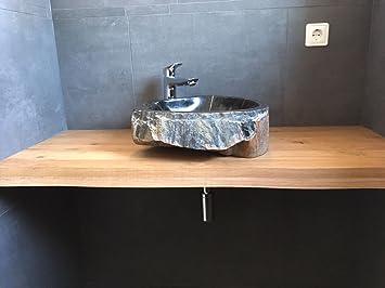 meuble lavabo en chne massif plaque en bois massif