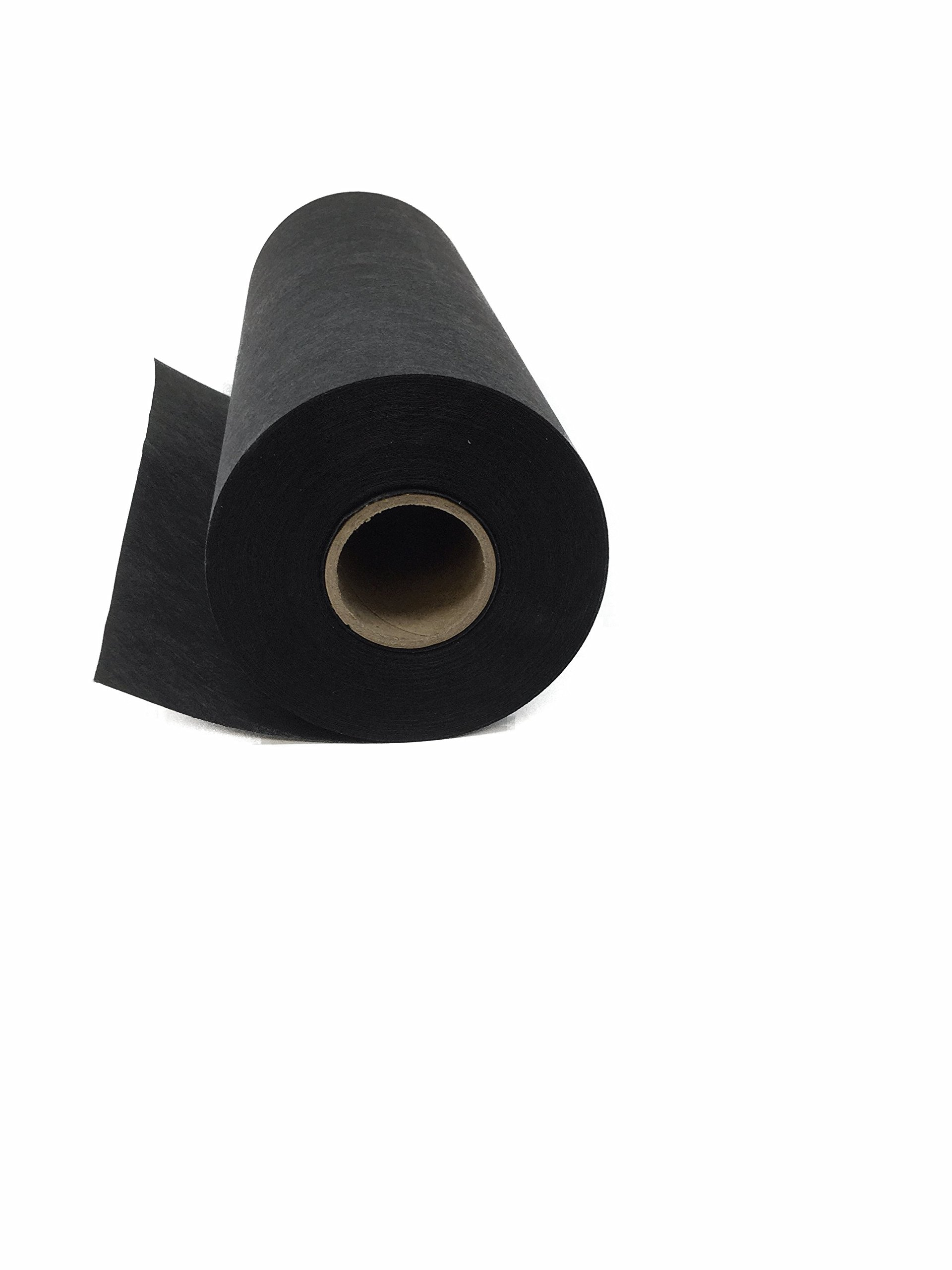 Cut Away Embroidery Stabilizer (Black) 11'' x 25 Yard Roll - 2.5 Ounce Black Cutaway for Machine Embroidery by H.B.I.