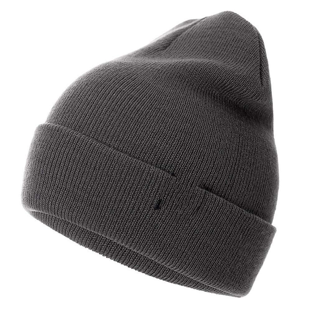 CHULAI Cappello Invernale da Uomo Cappello da Donna Cappello Universale da Uomo Cappello Invernale in Cotone Tinta Unita