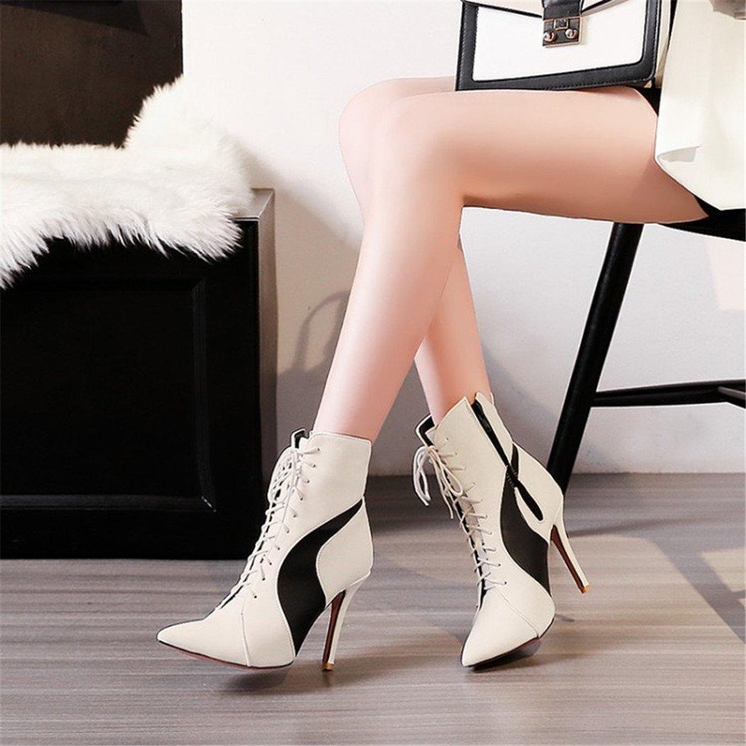 ZQ@QX Tipp der der Tipp Woche für feine mit High Heels Mode buchstabiere Farbe und vielseitig, eine große Anzahl von Frauen Stiefel Beige 6949cc