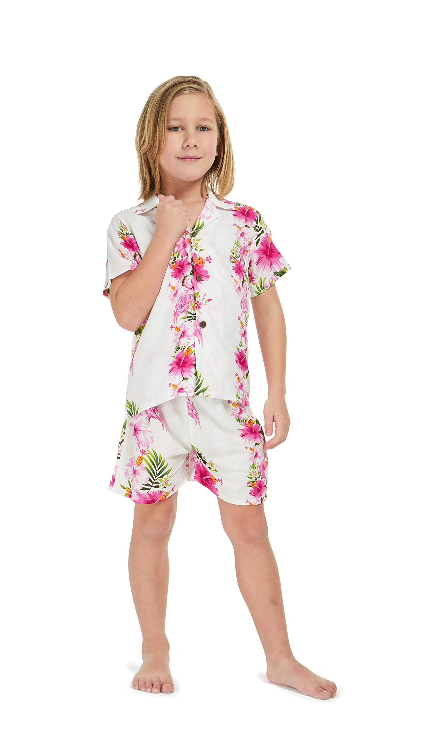 Hawaii Hangover Boy Young Adult Aloha Luau Shirt in Pink Hibiscus Vine 10 Year Old by Hawaii Hangover (Image #6)