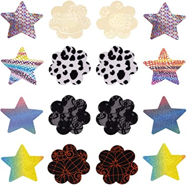 8 Pairs Women Pasties Disposable Breast Petals Stain Nipple Cover Sticker