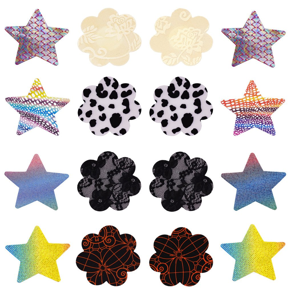 8 Pairs Women Pasties Breast Petals Stain Nipple Cover Sticker WHNP-045