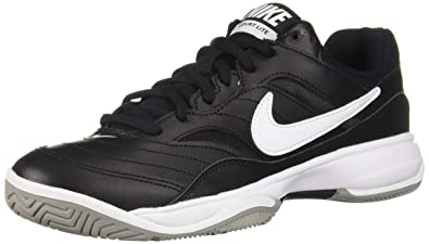 5402b7285 NIKE Men's Court Lite Athletic Shoe, Black/White/Medium Grey, 6.5 Regular
