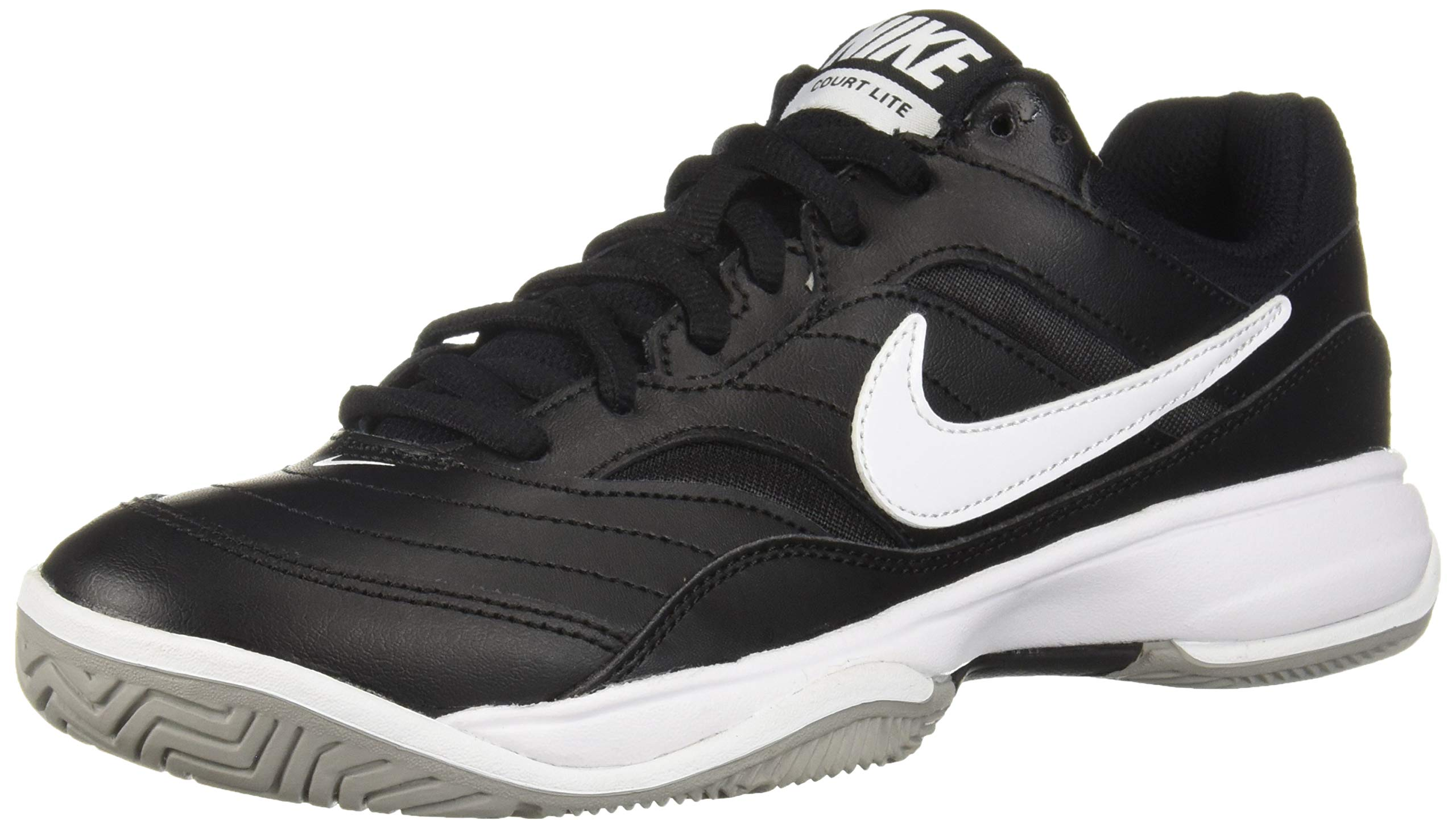 NIKE Men's Court Lite Athletic Shoe, Black/White/Medium Grey, 7.5 Regular US by Nike (Image #1)
