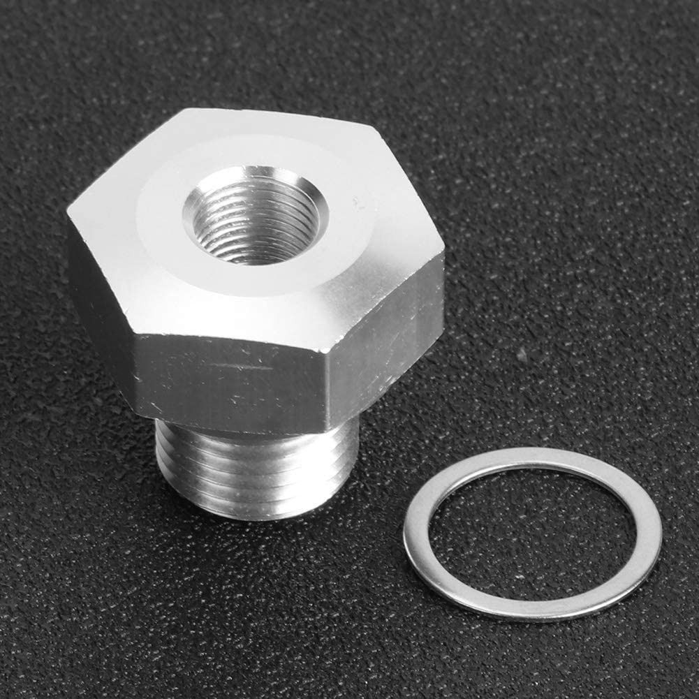 Yctze Adattatore sensore pressione olio connettore adattatore cambio motore Accessori auto in alluminio da M16x1,5 a 1//8 NPT per motore LS