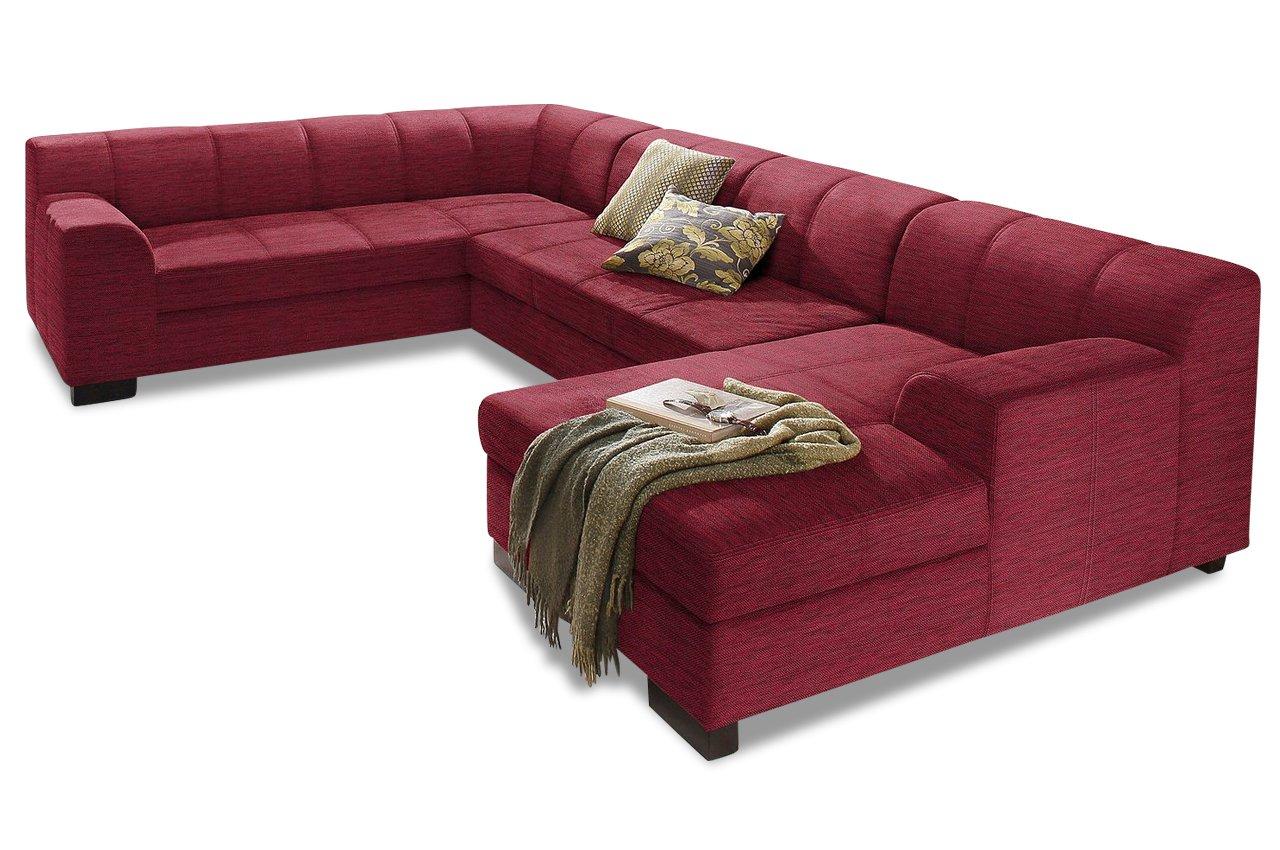 Sofa Wohnlandschaft Falk Rot Chenille Dunkelrot Gunstig Kaufen