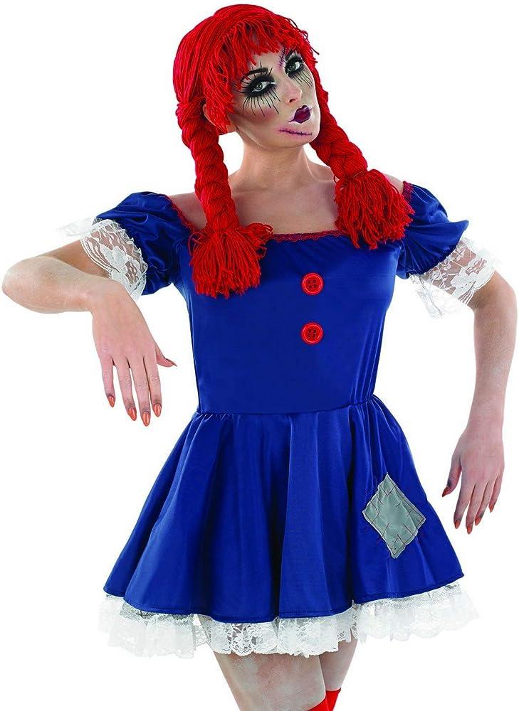 Partypackage Ltd Disfraz de muñeca de trapo de terror para ...