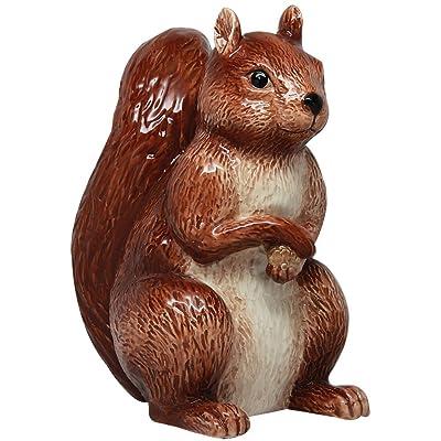 PTC 6 Inch Ceramic Squirrel Savings Piggy/Coin/Money Bank, Brown: Home & Kitchen