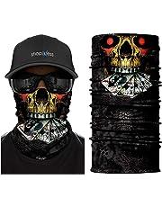 ShopINess Copricapo Bandana Multifunzione - Cranio (5 Design) 734c890d8944