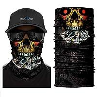 ShopINess Copricapo Bandana Multifunzione - Cranio (5 Design)