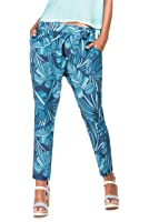 Salsa - Pantalons style Boyfriend avec imprimé feuilles tropicales - Lori - Femme