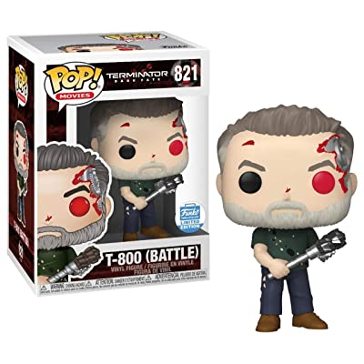 Funko T-800 Battle Terminator Dark Fate Vinyl Figurine POP! Limited Edition #821: Toys & Games