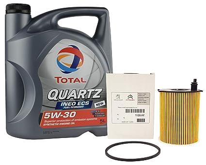 Pack Total Quartz Ineo Ecs 5W30 + Filtro Aceite Original motor 1.6 ...