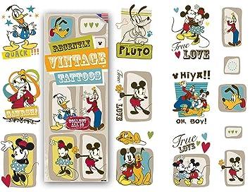 Juego de 10 tatuajes de Mickey Mouse de Disney, ideal para los ...