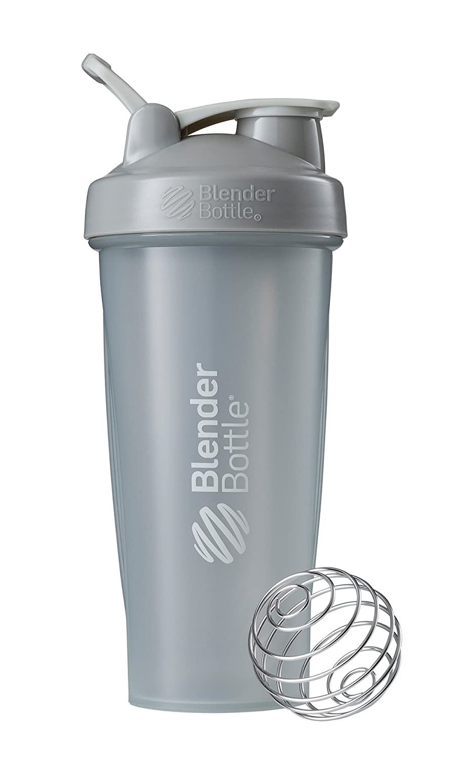 BlenderBottle Classic Loop Top Shaker Bottle, 28-Ounce, Pebble Grey