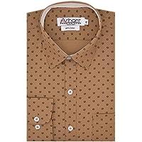 Arihant Men's 100% Cotton Printed Party Wear Full Sleeves Regular Fit Formal Shirt for Men