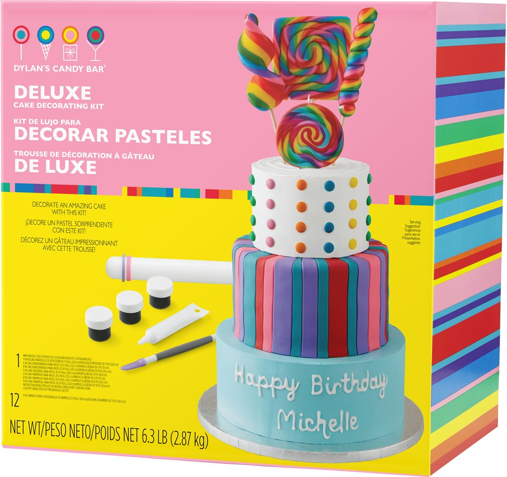 Wilton 2104-6813 Dylan's Candy Bar Deluxe Cake Decorating Kit, Assorted