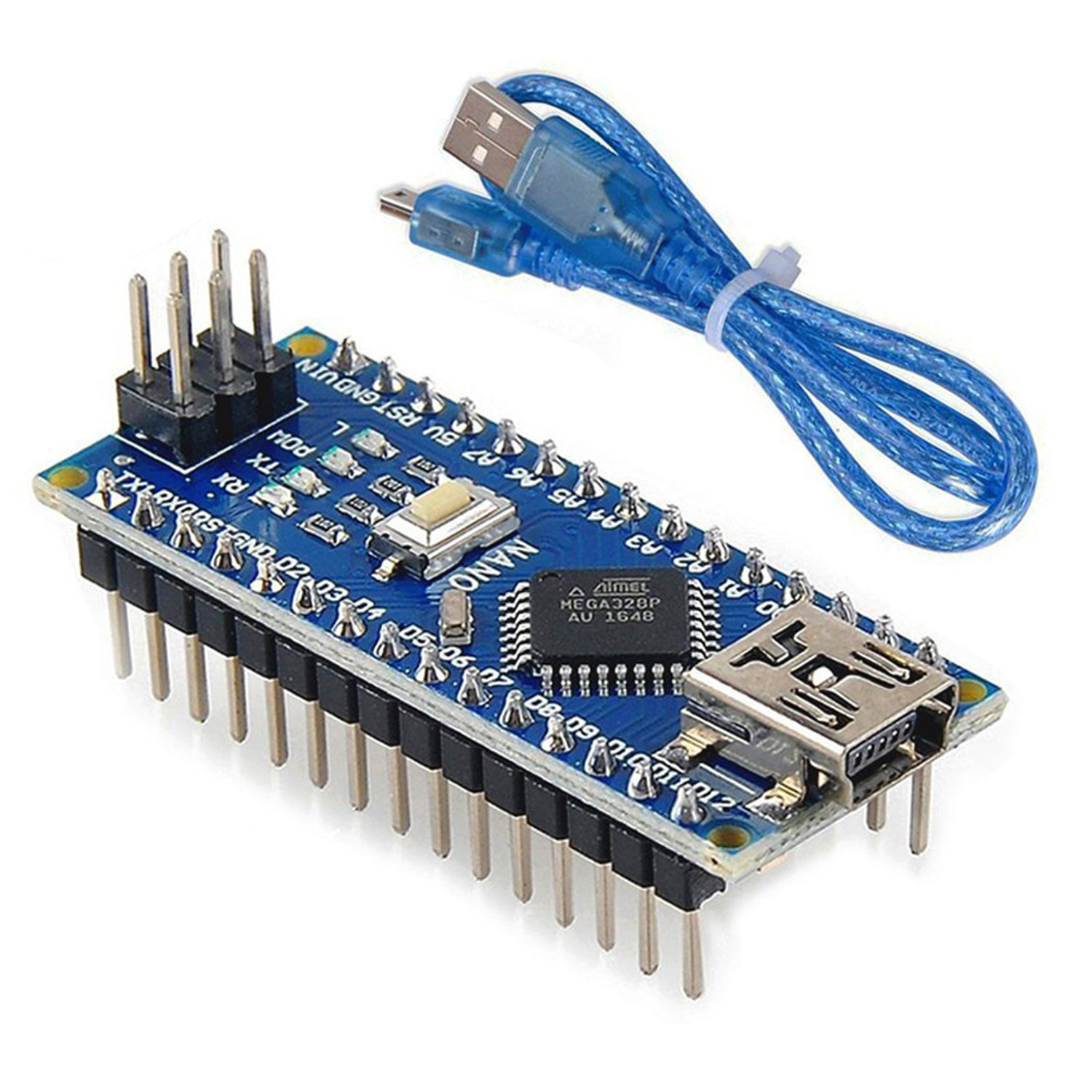 Mini Nano V30 Atmega328p Microcontroller Board Usb Have The New Power Lines Soldered To Gps Circuit When I Cable For Arduino Electronics