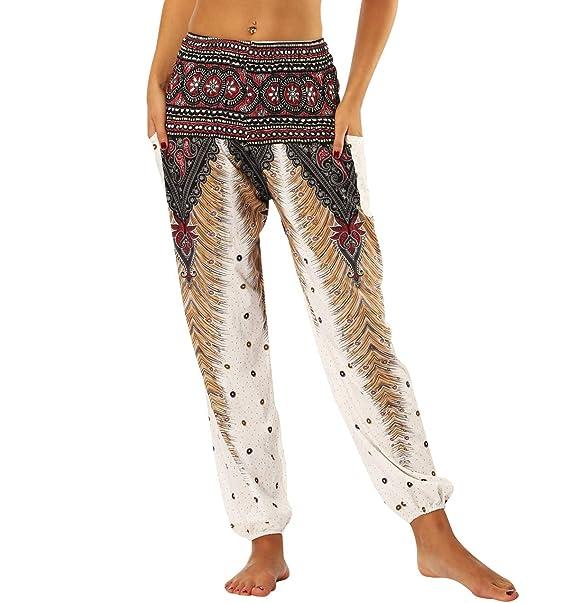 Pantalones Harem Mujer Aladino Hippies Baggy Boho Pantalon ...