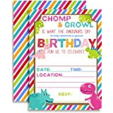 Amazon girls dinosaur birthday party invitations fill in set cute and colorful dinosaur birthday party invitations for girls ten 5x7 fill filmwisefo