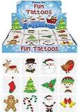 48 x Christmas Children's Temporary Tattoos (4 packs of 12)
