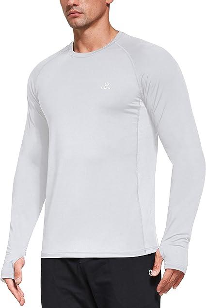 Nouveau Hommes T-Shirt Séchage Rapide Jersey À Manches Longues Respirant Anti-UV