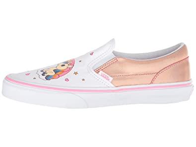 f008cef1080 Vans Kids K Classic Slip ON Unicorn Rainbow Pink Lemonade Size 1.5