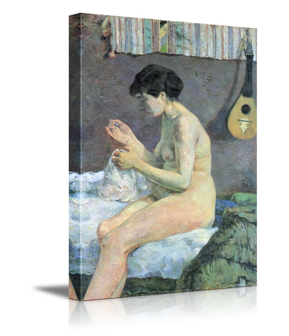 Wall26 art prints framed art canvas prints greeting wall26 study of a nude suzanne sewing by paul gauguin french post impressionist canvas art home decor 12x18 inches kristyandbryce Images