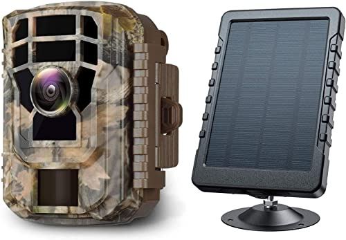 Campark Mini Trail Camera and Solar Panel Bundle