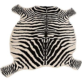 Faux Zebra Print Rug
