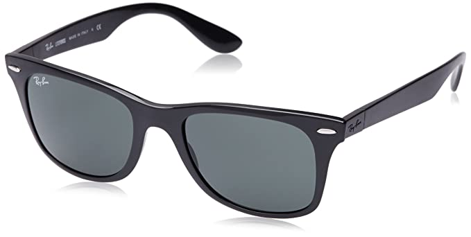 Ray-Ban Men s Nylon Man Non-Polarized Iridium Square Sunglasses, Matte  Black, 4b02ecc12f8b
